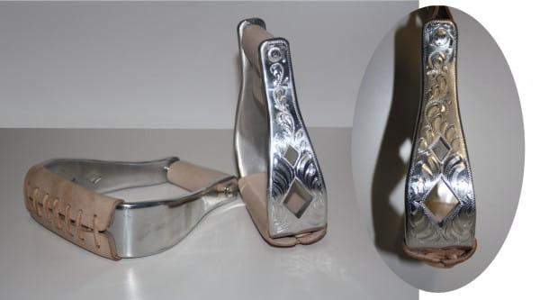 Show Cut Out Diamonds Alu-Steigbügel