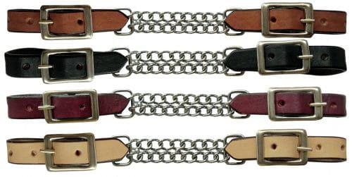 Showman Leather Curb Kinnkette doppelt