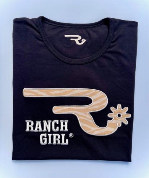 Ranchgirls Round Neck T-Shirt Safari black