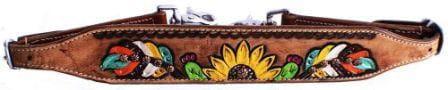 Nackenriemen - wither strap- hand painted Sunflower