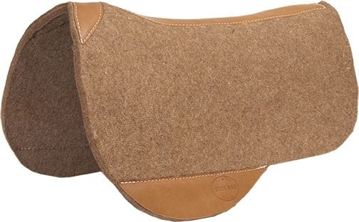 Mustang Premium Contoured Trail Riding Pad 3/4 Inch Wollfilz