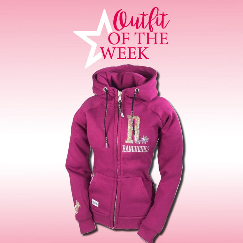 Ranchgirl Hooded Jacket Shiny Fuchsia/champage