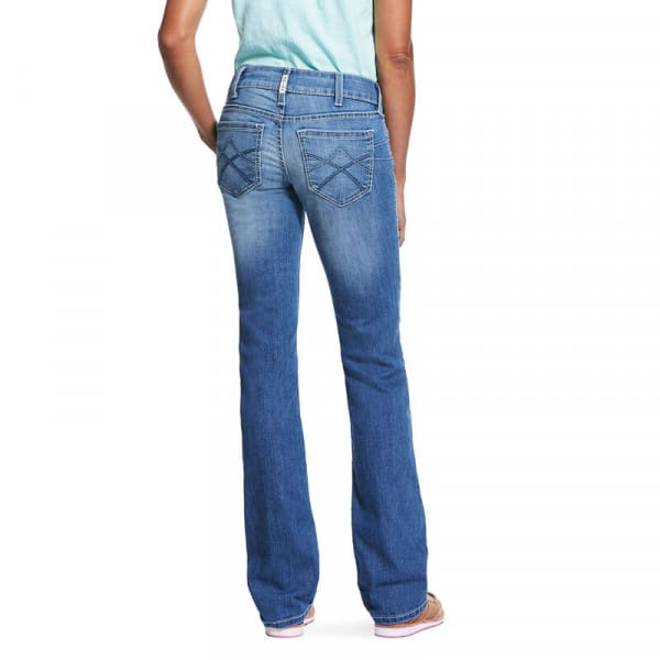 Ariat Womens REAL Mid Rise Stretch Tulip Stackable Straight
