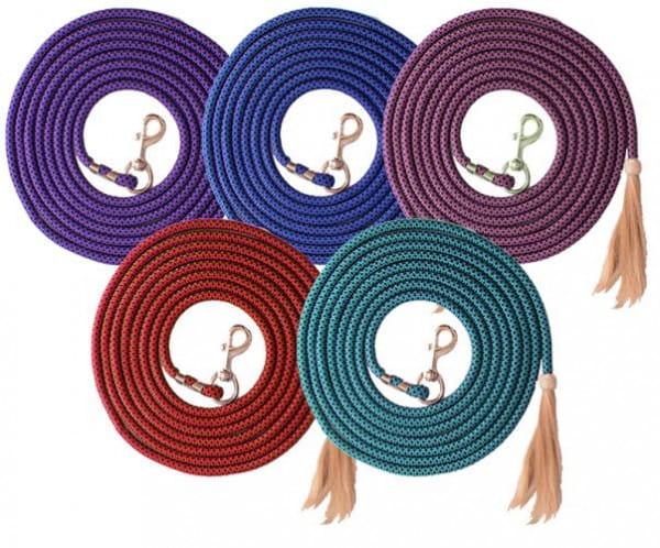Showman Nylon Pro Braided Lunge Line mit Horse Hair Tassel