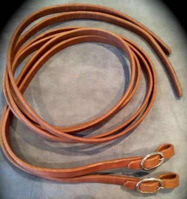 Buckaroo Premium Heavy Leather Split Rein 1/2 with Buckles