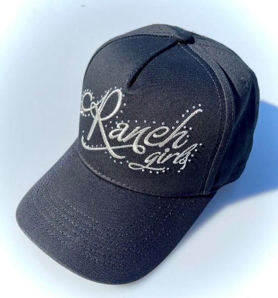 Ranchgirl Cap black   silver Rhinestones