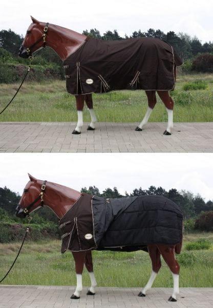 2in1 Tough Horse 1680D Regendecke mit 100g Unterdecke