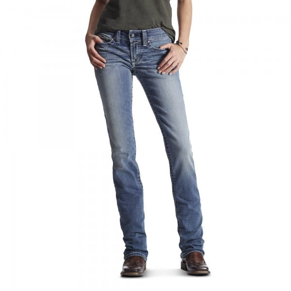 Ariat Womens Real Mid Rise Icon Stackable Straight