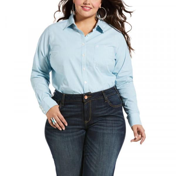Ariat Womens Kirby Stretch Shirt aqua stripes