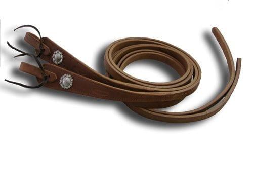 "Buckaroo Heavy Weight Hermann Oak Antique Conchas Reins 5/8"""