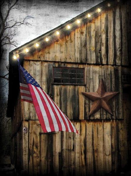 LED Canvas Bild Lighted Americana mit Timer