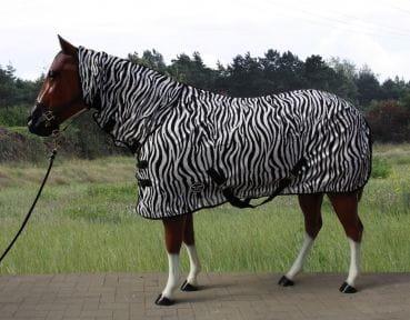 Top Score Zebra Fliegendecke mit Halsteil