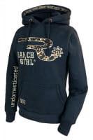 Ranchgirls Hooded Sweat JKT AVA Leopard Design anthrazid