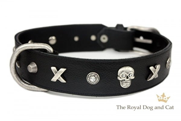 Halsband Piraten by The Royal Dog and Cats - schwarz/antik Gr. 42-47cm