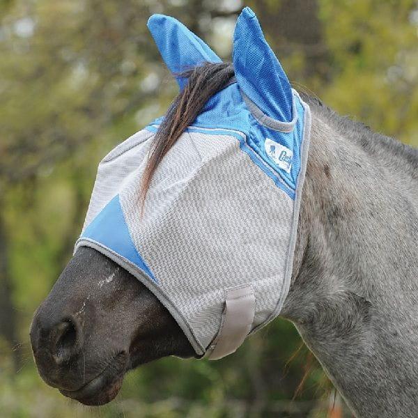 Crusader Blue Fly Mask Cashel UV-Schutz mit Ohren