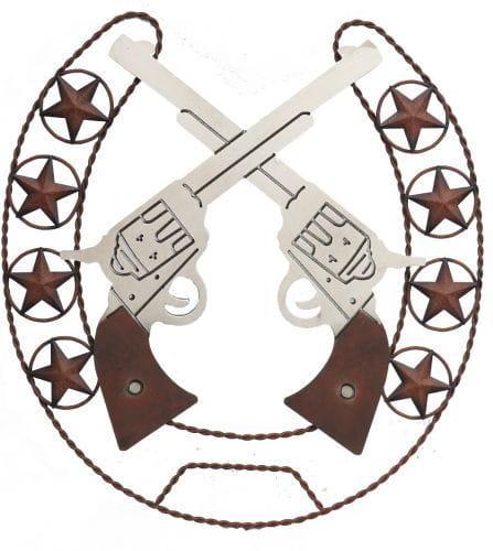 Crossed pistols wall art