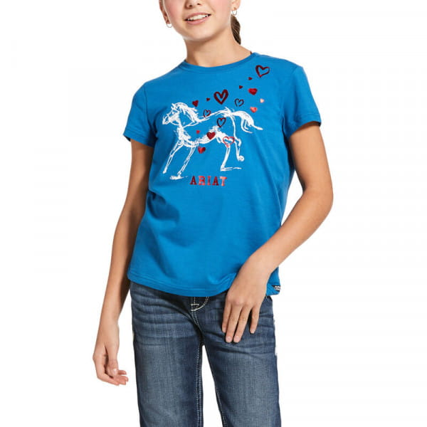 Ariat Youth Pony Love T-Shirt blue dawn