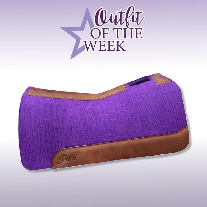 "5 Star Equine Pad 7/8"" purple"