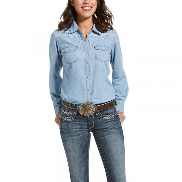 Ariat Womens REAL Fierce Shirt indigo