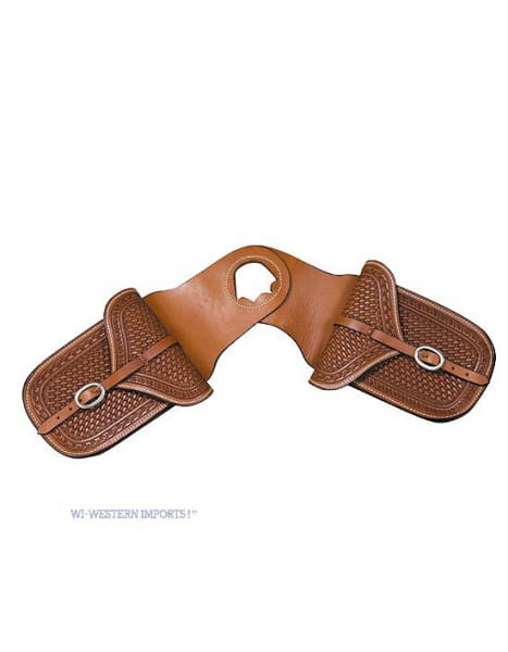 Horn-Satteltasche aus Leder