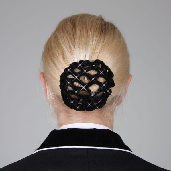 Haarnetz mit Strass-Steinchen