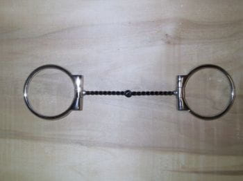 SNAFFLE D-RING TWISTED-WIRE, dünn
