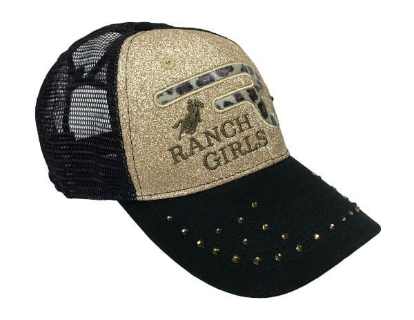 Ranchgirl Cap Black & Gold Glitter