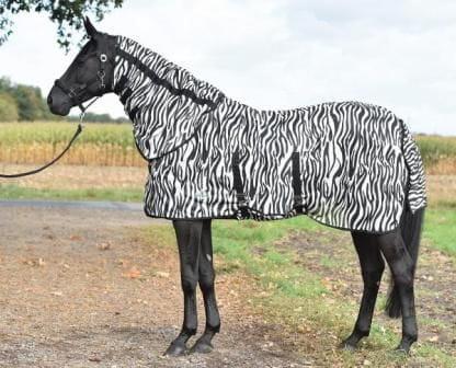 Fliegendecke Zebra mit Halsteil und Bauchlatz