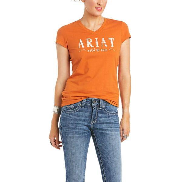 Ariat Womens Real Logo T-Shirt autumnal