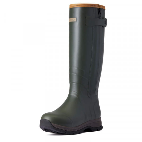 Ariat Womens Burford Insulated Zip Rubber Boot olive