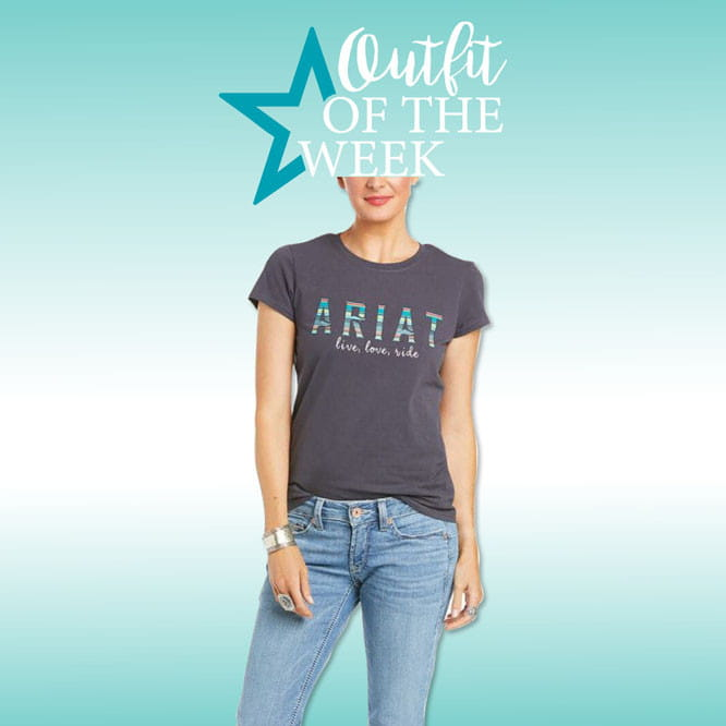 Ariat Womens Real Oasis T-Shirt periscope