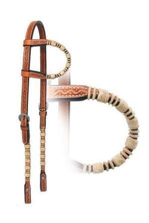 Kopfstück Einohr Snakedance und Rohhaut