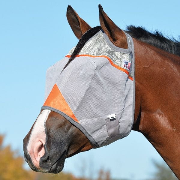 Crusader Orange Fly Mask Cashel UV-Schutz