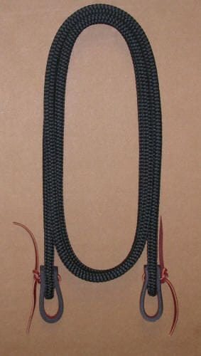 Double Diamond Roping Reins Treeline black