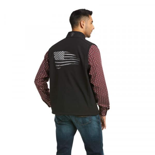 Ariat Mens Logo 2.0 Patriot Softshell Vest black