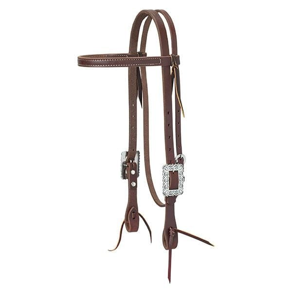 Weaver Working Tack Browband Golden Chestnut