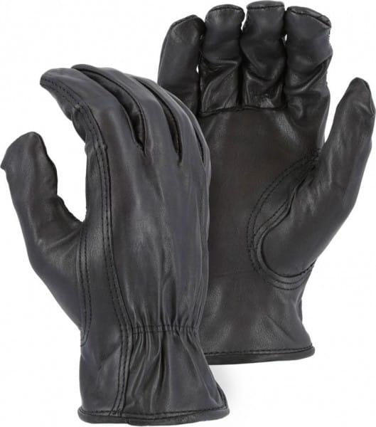 Majestic Soft Black Deerskin Handschuh