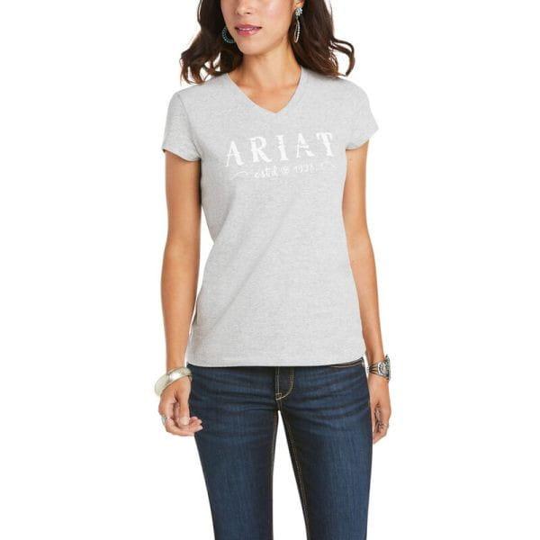 Ariat Womens Real Logo T-Shirt heather grey