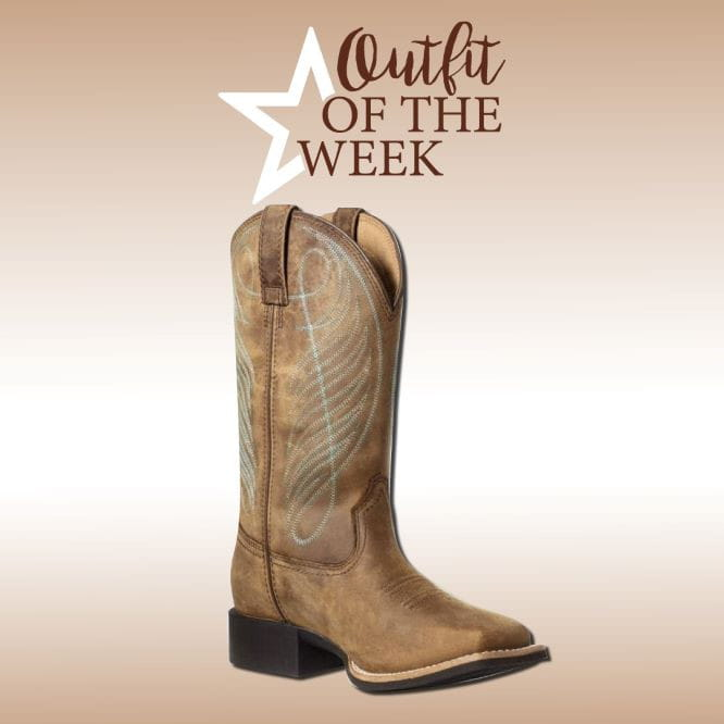 Ariat Womens Round Up Wide Square Toe H2O