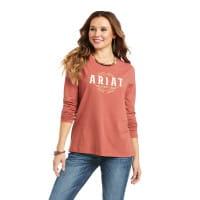 Ariat Womens REAL Logo Flourish T-Shirt marsala