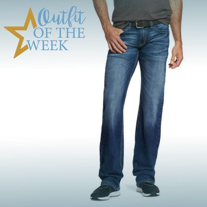 Ariat Mens M7 Rocker Nassau Stackable Straight Leg Jeans