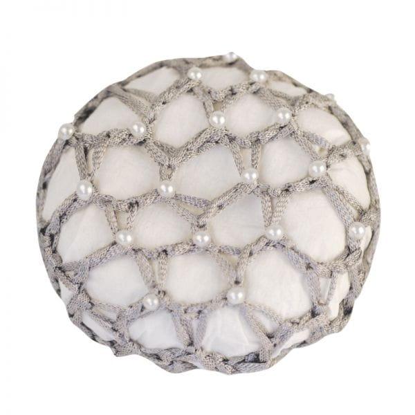 Haarnetz mit Perlen in 4 Farben