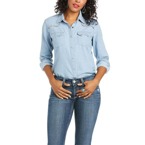 Ariat Womens Real Kind Snap Shirt by Water