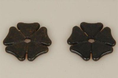 Sporenrädchen Kleeblatt klein schwarz