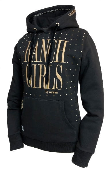 Ranchgirl Hooded Sweat Jacket Dot black