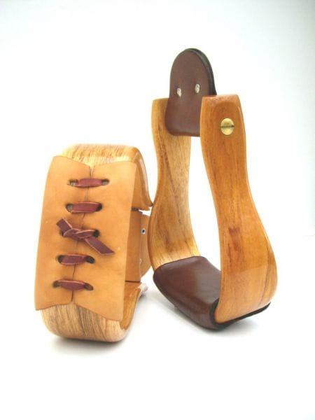 Double CC gebogen Deluxe Holzsteigbügel - Lackiert -