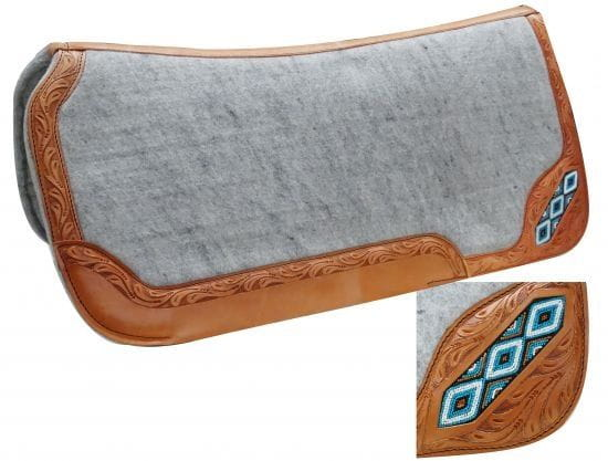 Showman Filzpad Show Tooled Leather 1'