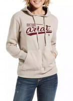 Ariat REAL Varsity Logo Sweatshirt oatmeal heather