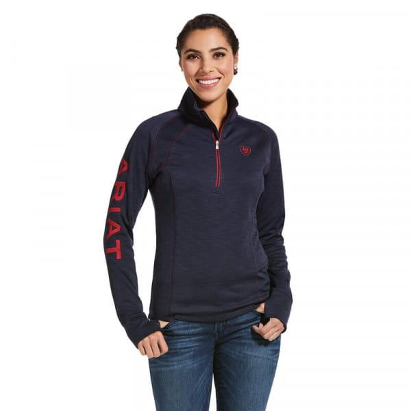 Ariat Womens Tek Team 1/2 Zip Sweatshirt navy heather