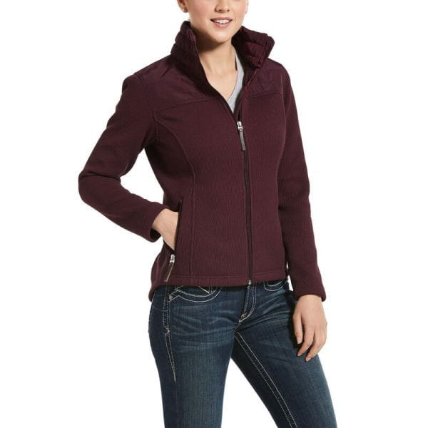 Ariat Womens Kalispell Full Zip Sweater winetasting